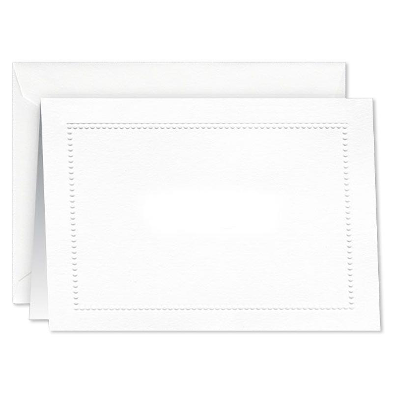 ウィリアム・アーサー/ボックスカード10枚セット/Blind Embossed Beaded Border Note