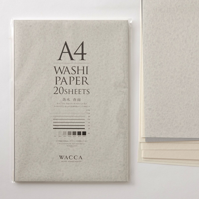 WACCA/和紙/A4和紙 落水 春雨 20枚入り