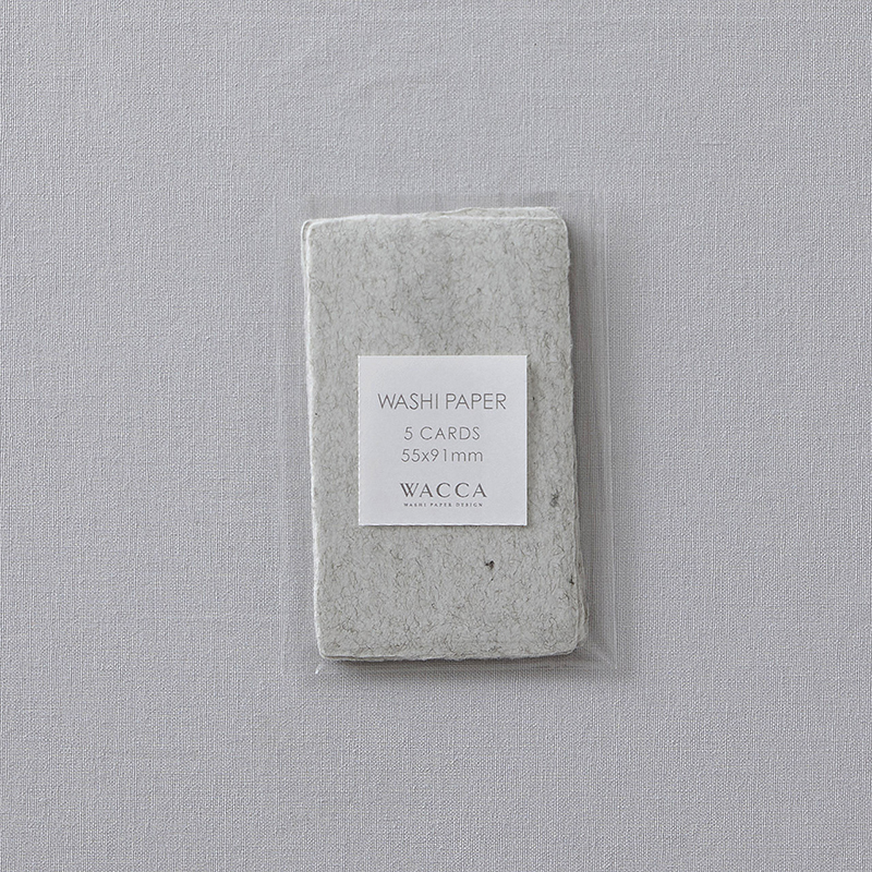 WACCA/ネームカード/Washi Paper -Name Card Size (Set of 5): Heather Gray