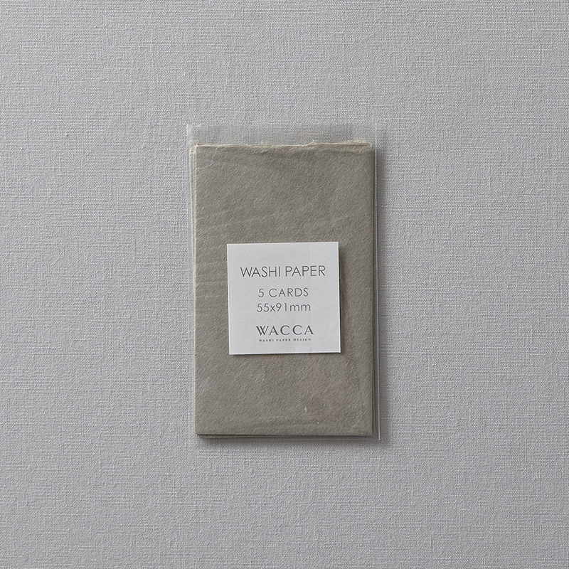 WACCA/ネームカード/Washi Paper -Name Card Size (Set of 5): Gray
