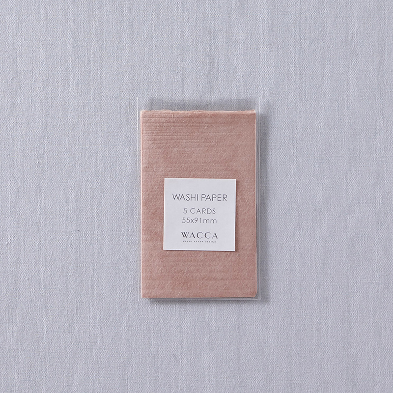 WACCA/ネームカード/Washi Paper -Name Card Size (Set of 5): Pink