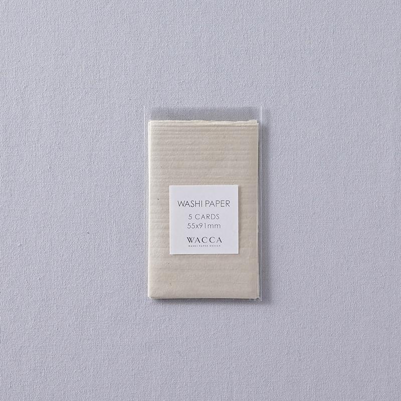 WACCA/ネームカード/Washi Paper -Name Card Size (Set of 5): Ecru