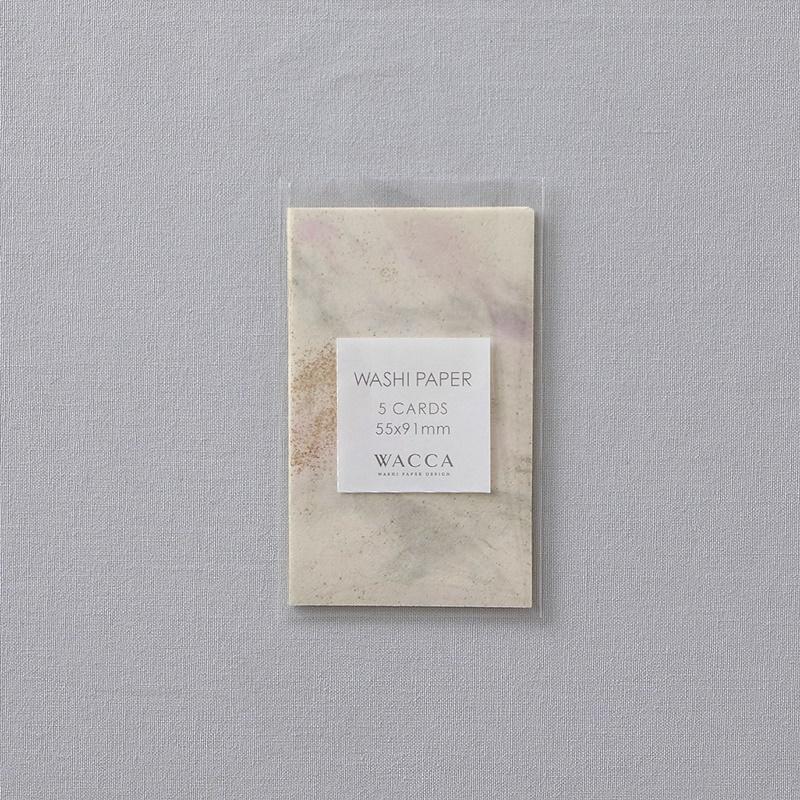 WACCA/ネームカード/襖紙ミニカード ゴールド&ピンク 5枚入り