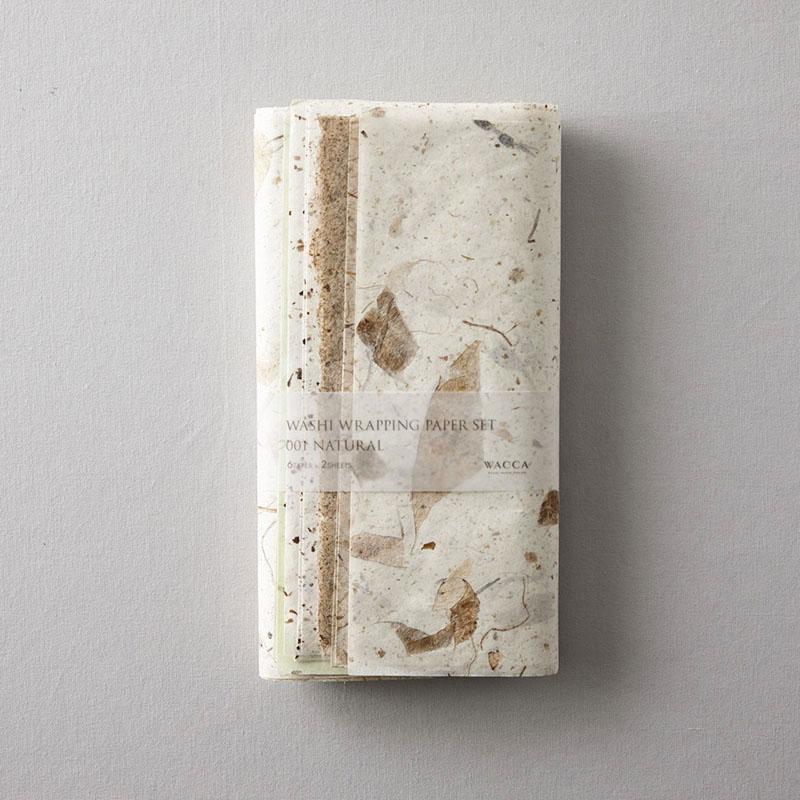 WACCA/ラッピングペーパー/Washi Wrapping Paper Set 001 Natural
