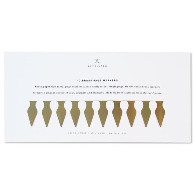 アポインティッド/ページマーカー/Brass Page Markers