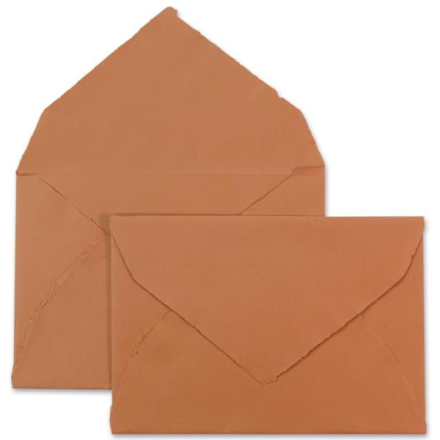 ARPA/ハンドメイドコットン封筒/Envelope: Terracotta