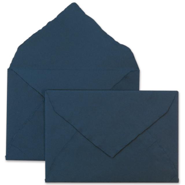 アルパ/ハンドメイドコットン封筒/ARPA Envelope: Navy Blue