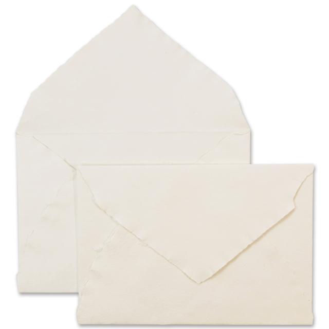 アルパ/ハンドメイドコットン封筒/ARPA Envelope: Ivory