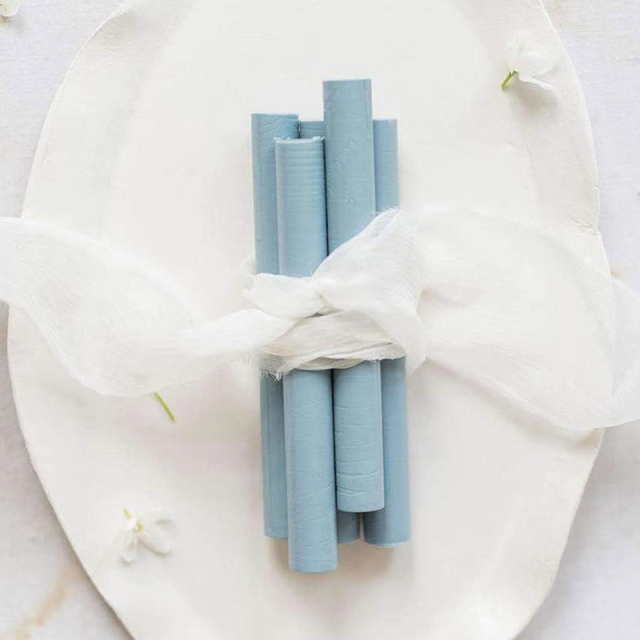 Artisaire/グルーガンワックス/Limited Edition: Dusty Blue Sealing Wax Sticks (5 Pack)