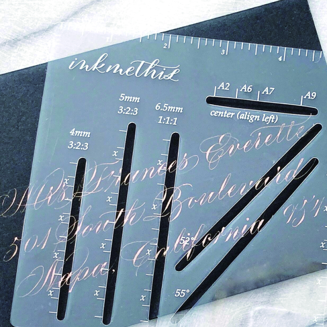 INKMETHIS/カリグラフィールーラー/Envelope Ruler
