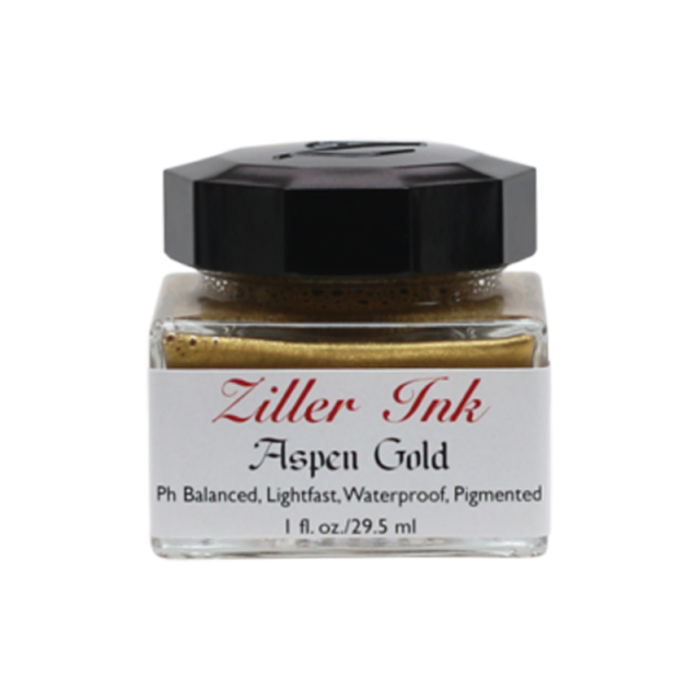 Ziller/カリグラフィーインク/Ziller Ink 1oz : Aspen Gold