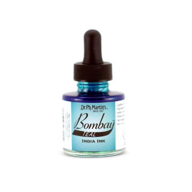 Dr. Ph. Martin's/カリグラフィーインク/Bombay India Ink, Teal(30ml)