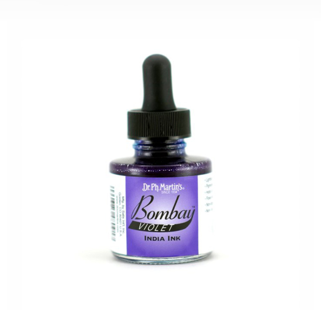 Dr. Ph. Martin's/カリグラフィーインク/Bombay India Ink, Violet (30ml)