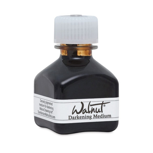 カリグラフィー/インク/Tom Norton's Walnut Ink Darkening Medium 42ml