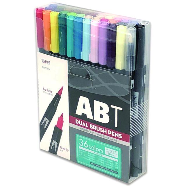 カリグラフィー/トンボ鉛筆 筆ペン/Tombow Dual Brush Pen ABT (36 colors)