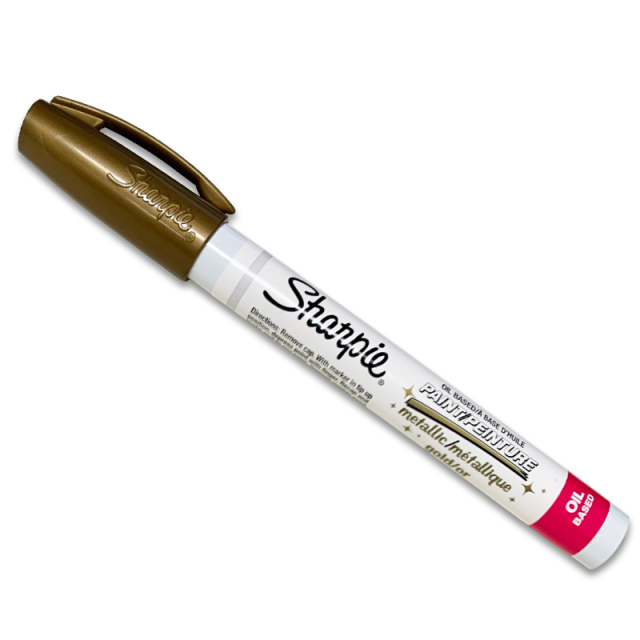 Sharpie/カリグラフィーペン/Sharpie Oil Based Paint Gold