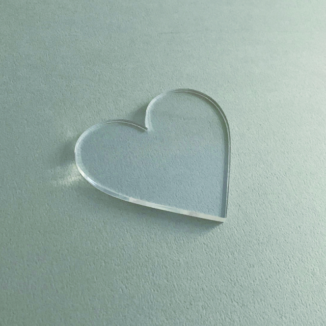 Paper Tree Original/カリグラフィーアクリルプレート/Acrylic Plate: Heart