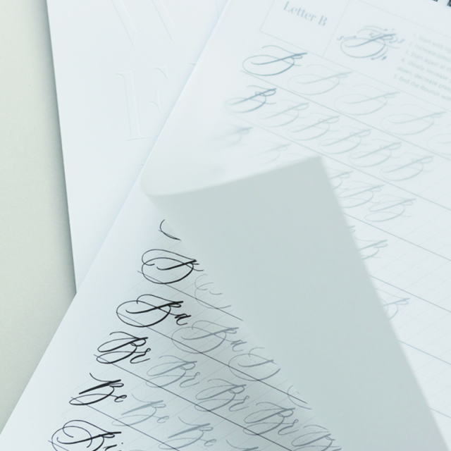 Written Word Calligraphy /カリグラフィー練習帳/Uppercase practice book