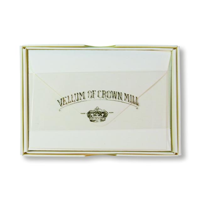 Original Crown Mill/ボックスカード20枚セット/CREAM