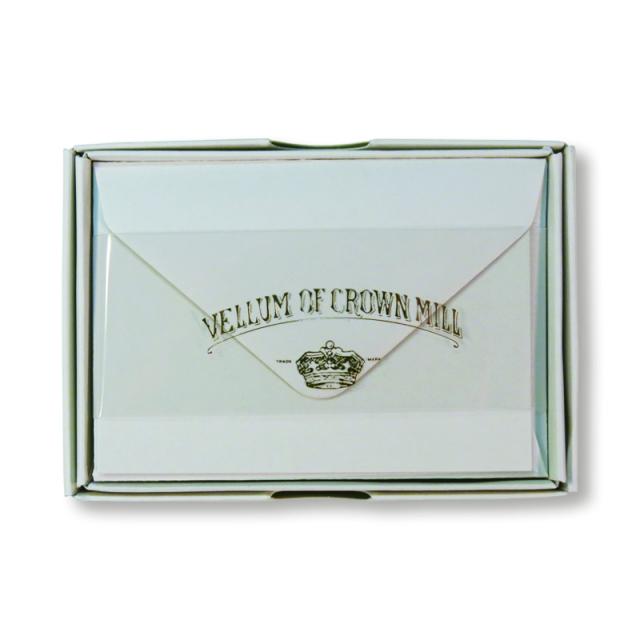 Original Crown Mill/ボックスカード20枚セット/DOVE GREY