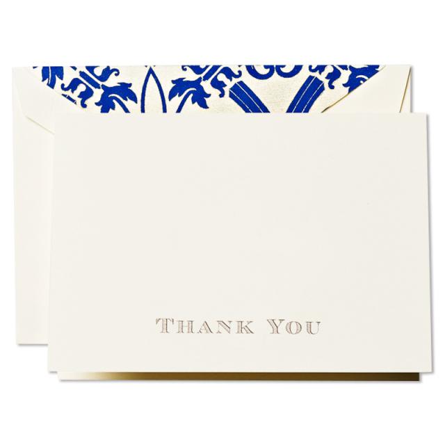 クレイン/ボックスカード/Hand Engraved Regency Thank You Notes