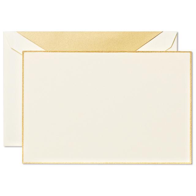 Crane/ボックスカード/Gold Bordered Correspondence Cards