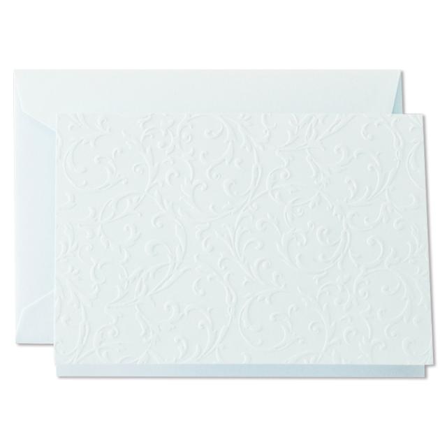 クレイン/ボックスカード/Blind Embossed Notes on Beach Glass Imaging paper