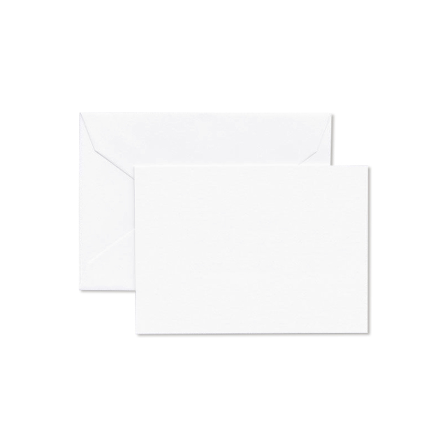 Crane/ボックスカード/Pearl White Enclosure Card & Envelope