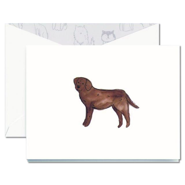Crane/ボックスカード/Pearl White Labrador Retriever