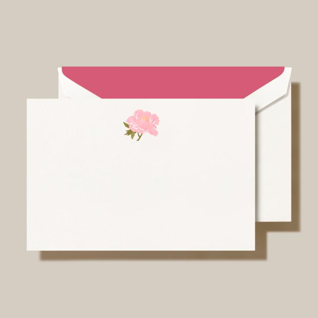 Crane/ボックスカード/Peony Pearl White Card (10 Cards / 10 Envelopes)
