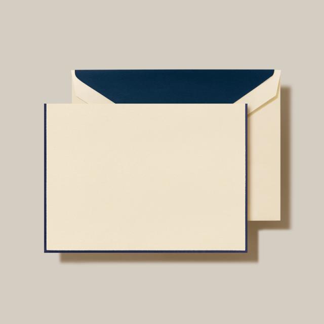 Crane/ボックスカード/Navy Border EC Note(10 Cards / 10 Envelopes)