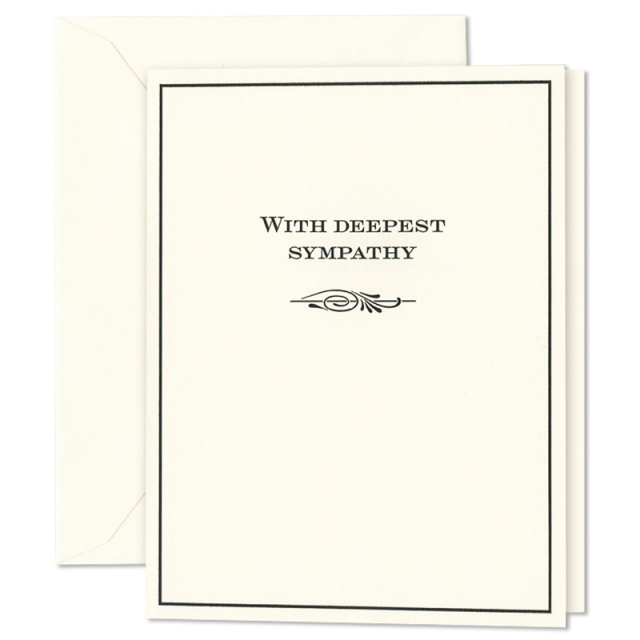 クレイン/シングルカード/With Deepest Sympathy Condolence Card