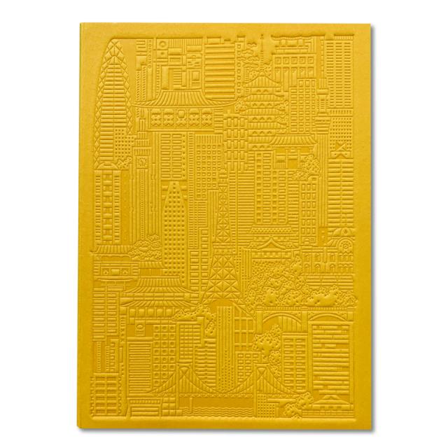 シティワークス/ノートブック/Tokyo Debossed Notebook - Yellow