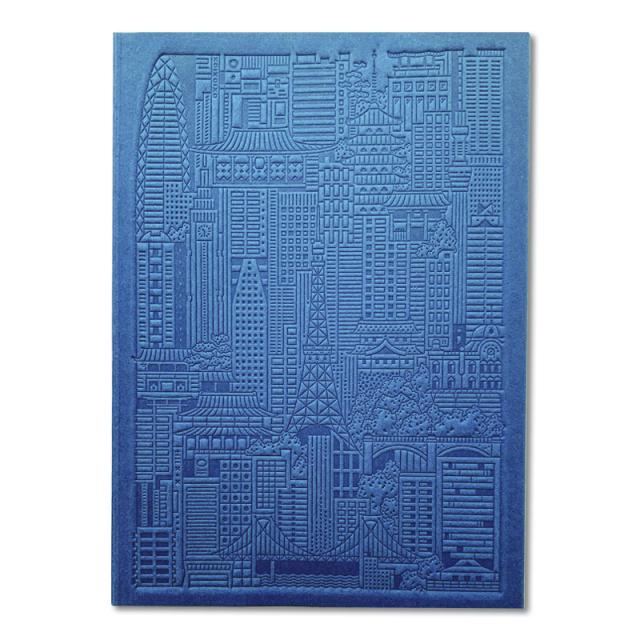 シティワークス/ノートブック/Tokyo Debossed Notebook - Blue