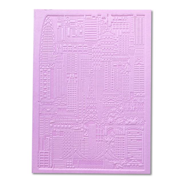 シティワークス/ノートブック/Tokyo Debossed Notebook - Pink