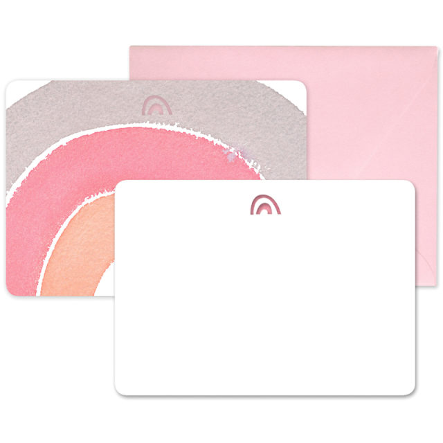 イー・フランシス/ボックスカード/Rainbow Laser Cut Notecards