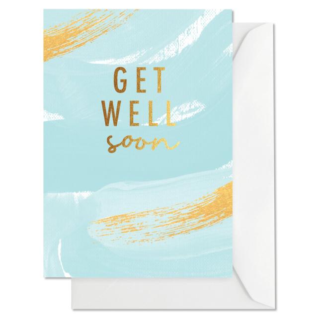 Elm Paper/シングルカード/Get Well Brushy