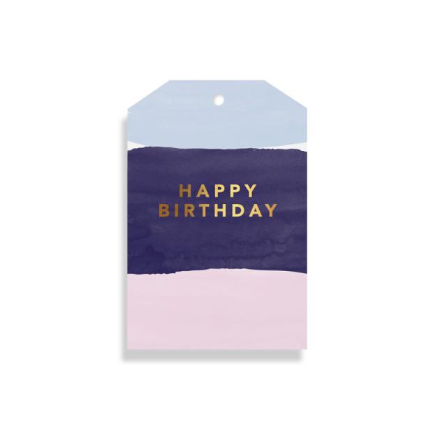 Elm Paper/ギフトタグ/Watercolour Birthday