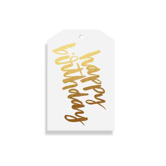 Elm Paper/ギフトタグ/Birthday Gold