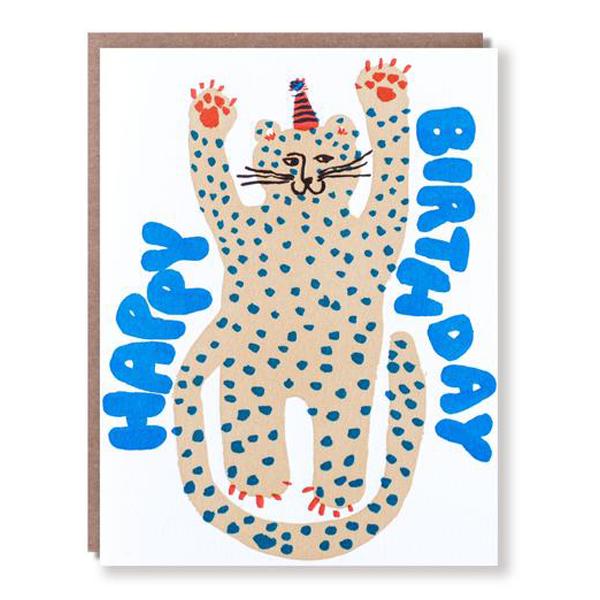 Egg Press/シングルカード/Party Cheetah Birthday