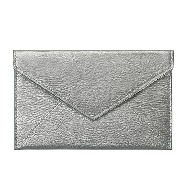 グラフィックイメージ/レザーエンベロ-プ ミディアム/Silver Genuine Morocco