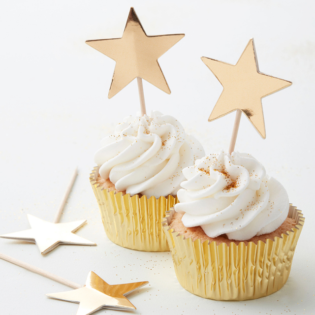 Ginger Ray/ケーキトッパー/Star Cupcake Toppers