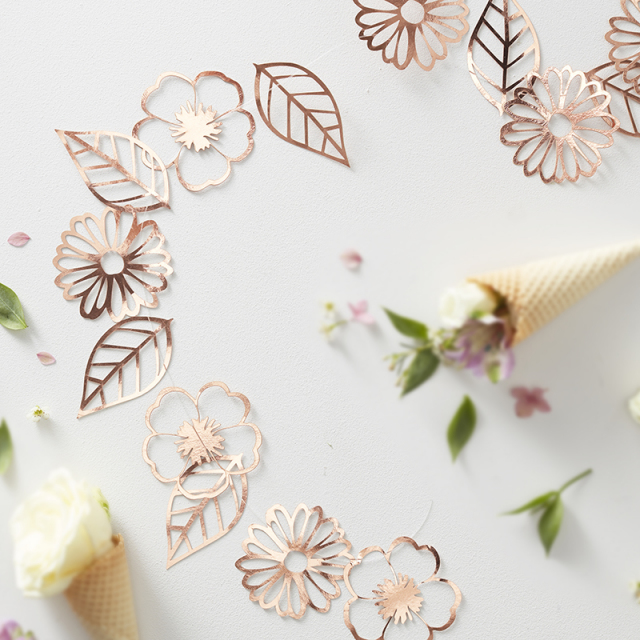 Ginger Ray/フラワーガーランド/Rose Gold Flower Garland