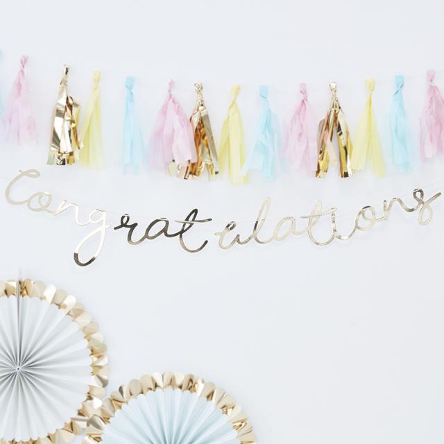 ジンジャーレイ/バナー/Congratulations Letter Banner