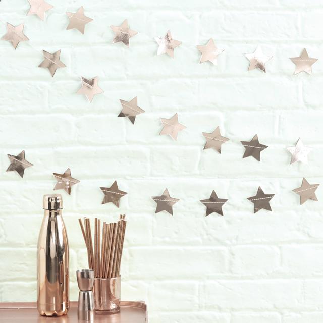 ジンジャーレイ/ガーランド/Rose Gold Star Garland