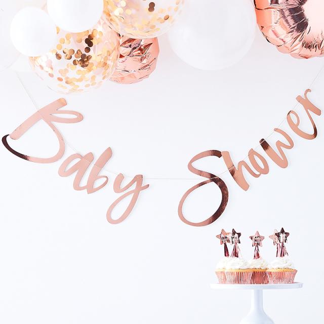 ジンジャーレイ/ガーランド/Rosd Gold  Baby Shower Backdrop