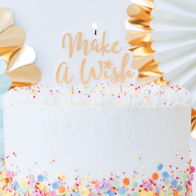 Ginger Ray/キャンドル/Make A Wish Gold Glitter Candle
