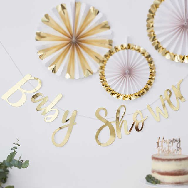 Ginger Ray/ガーランド/Gold Foiled Baby Shower Bunting