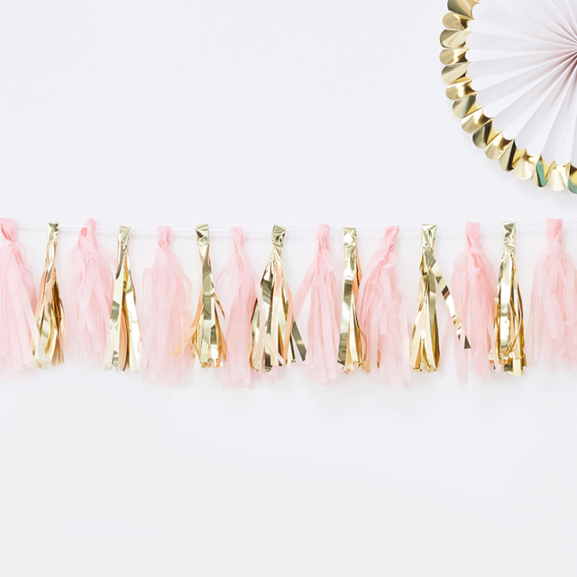 Ginger Ray/ガーランド/Pink And Gold Tassel Garland