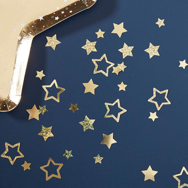Ginger Ray/コンフェッティ/Gold Foiled Star Shaped Table Confetti